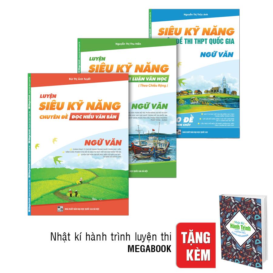 Bìa sách Combo Siêu Kỹ Năng Ngữ Văn (Tặng Kèm Nhật Kí Hành Trình Luyện Thi)