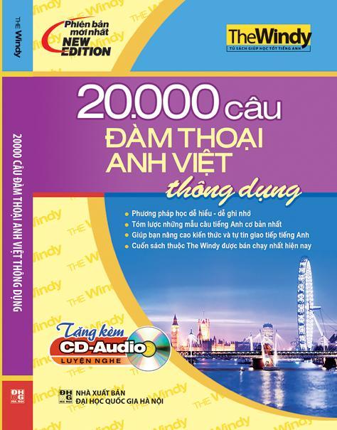 Bìa sách 20.000 Câu Đàm Thoại Anh - Việt Thông Dụng (Kèm CD)
