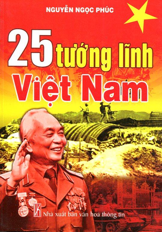Bìa sách 25 Tướng Lĩnh Việt Nam