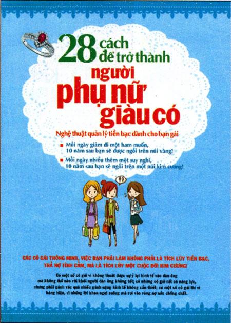 Bìa sách 28 Cách Để Trở Thành Người Phụ Nữ Giàu Có