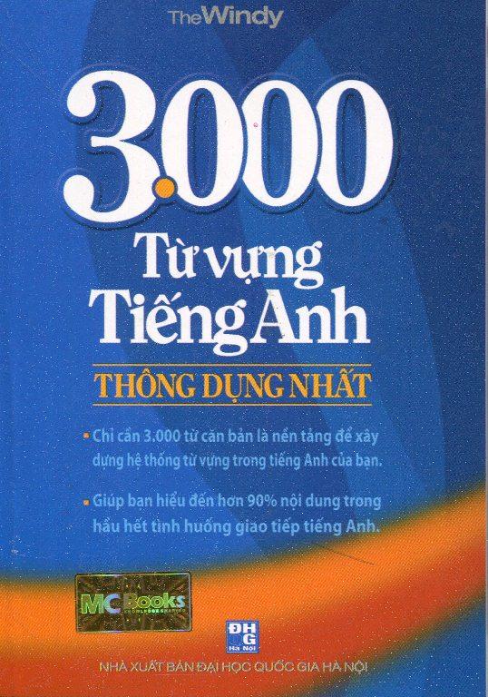 Bìa sách 3000 Từ Vựng Tiếng Anh Thông Dụng Nhất