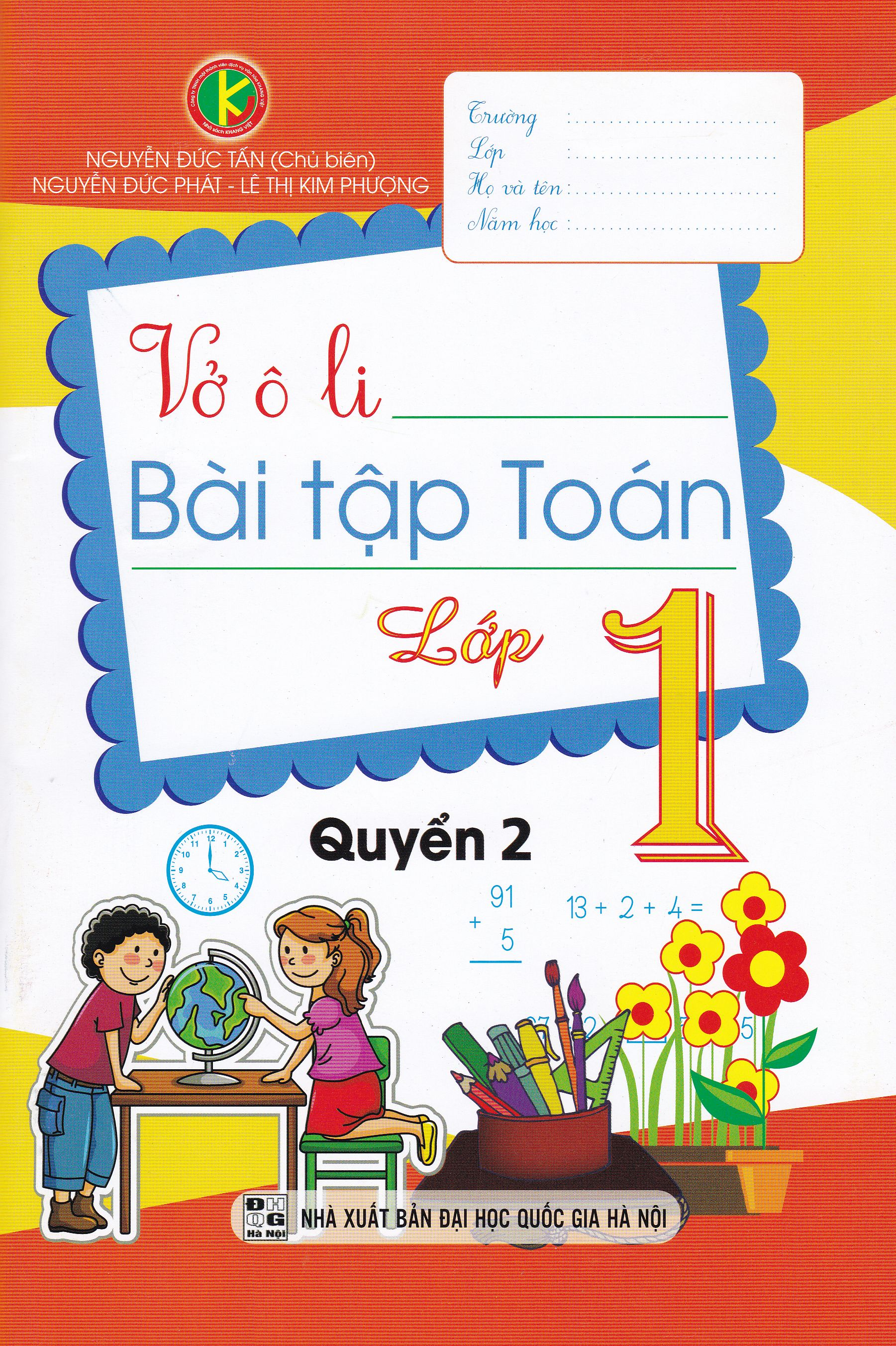 Bìa sách Vở Ô Li Bài Tập Toán Lớp 1 - Quyển 2