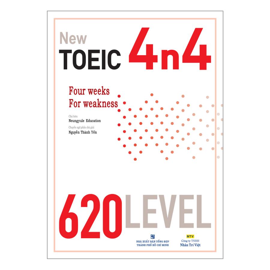 Bìa sách New TOEIC 4n4 - 620 Level (Kèm CD)