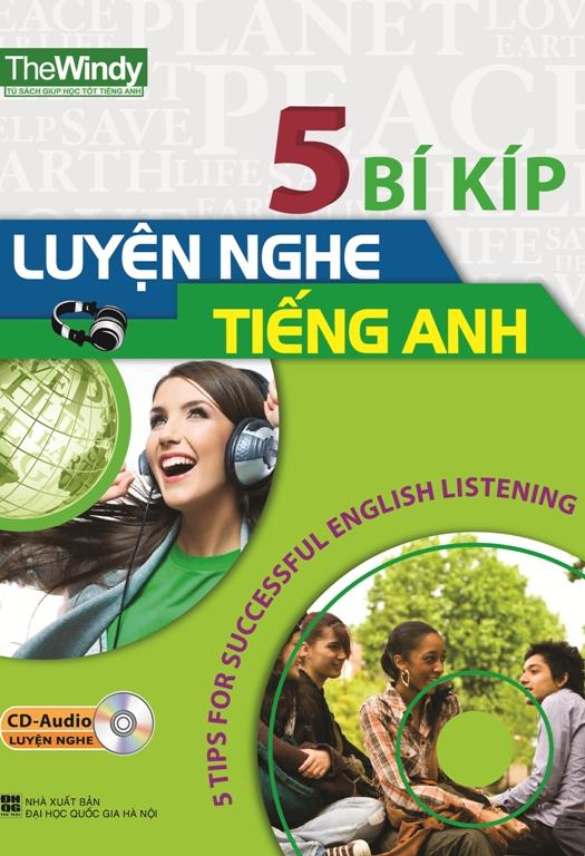 Bìa sách 5 Bí Kíp Luyện Nghe Tiếng Anh