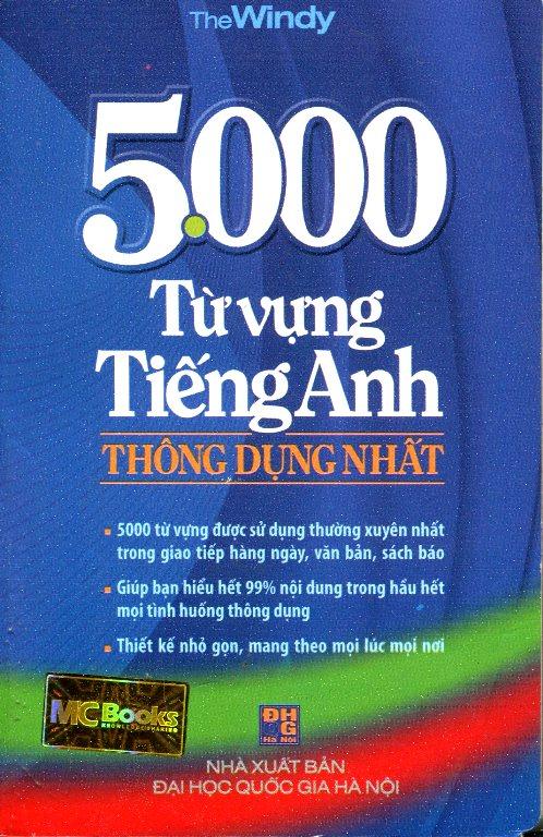 Bìa sách 5000 Từ Vựng Tiếng Anh Thông Dụng Nhất