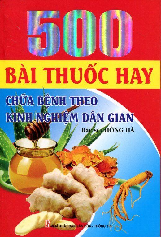 Bìa sách 500 Bài Thuốc Hay Chữa Bệnh Theo Kinh Nghiệm Dân Gian