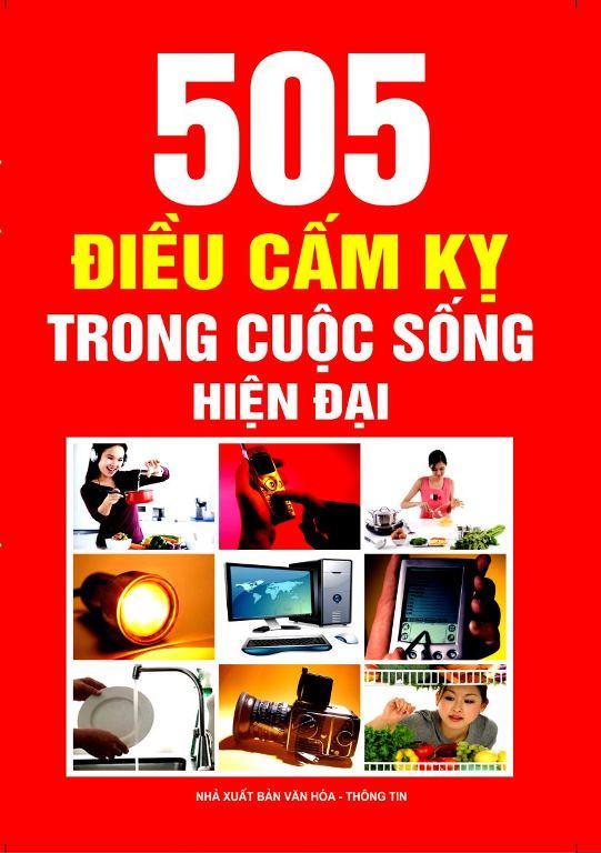 Bìa sách 505 Điều Cấm Kỵ Trong Cuộc Sống Hiện Đại