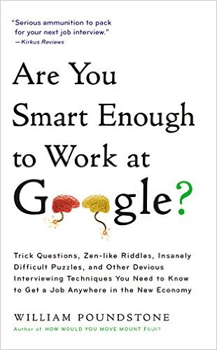 Bìa sách Are You Smart Enough To Work For Google?