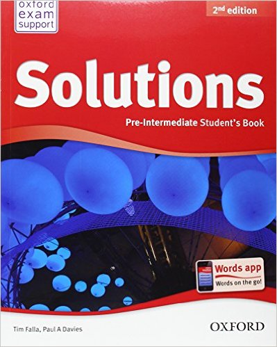 Bìa sách Solutions (2 Ed.) Pre-Inter: Student Book - Paperback