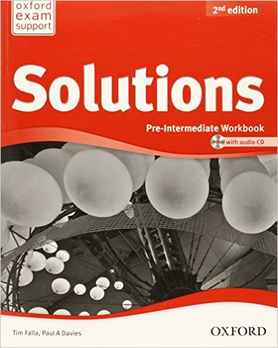 Bìa sách Solutions (2 Ed.) Pre-Inter: Workbook And Audio CD Pack - Paperback