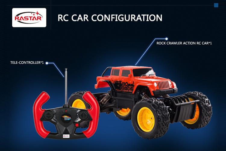 Xe đồ chơi điều khiển với Vô Lăng Rastar Rock Crawler
