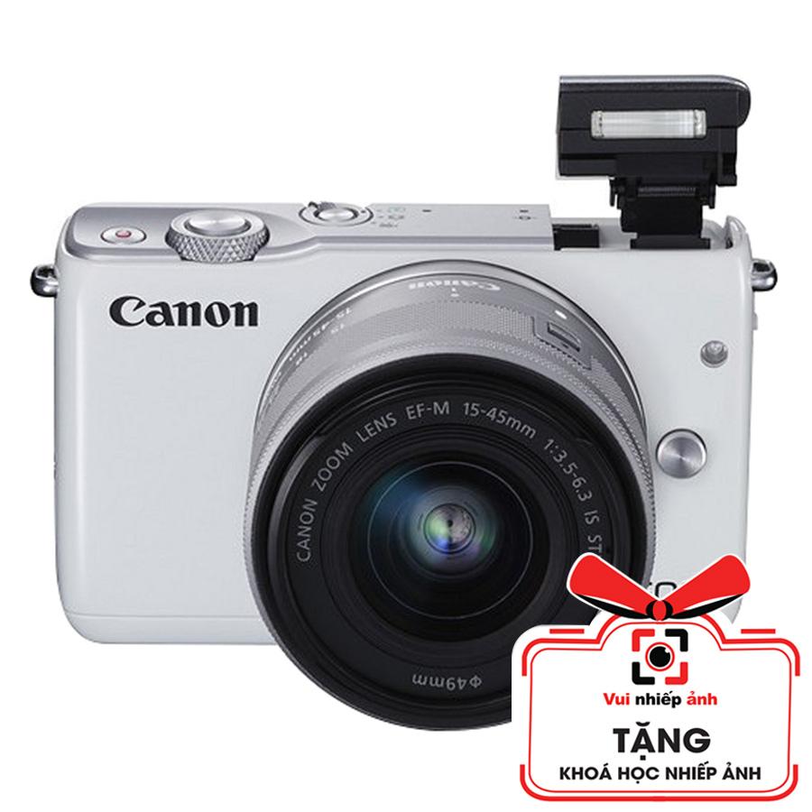 Máy ảnh Canon M10 KIT 15-45mm - Trắng