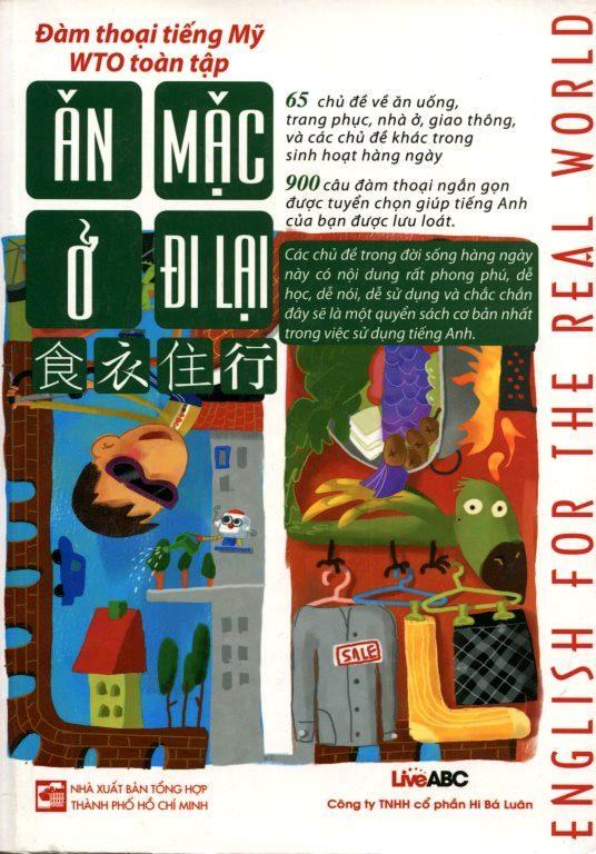 Bìa sách Đàm Thoại Tiếng Mỹ WTO Toàn Tập - Ăn, Mặc, Ở, Đi Lại (Kèm CD)