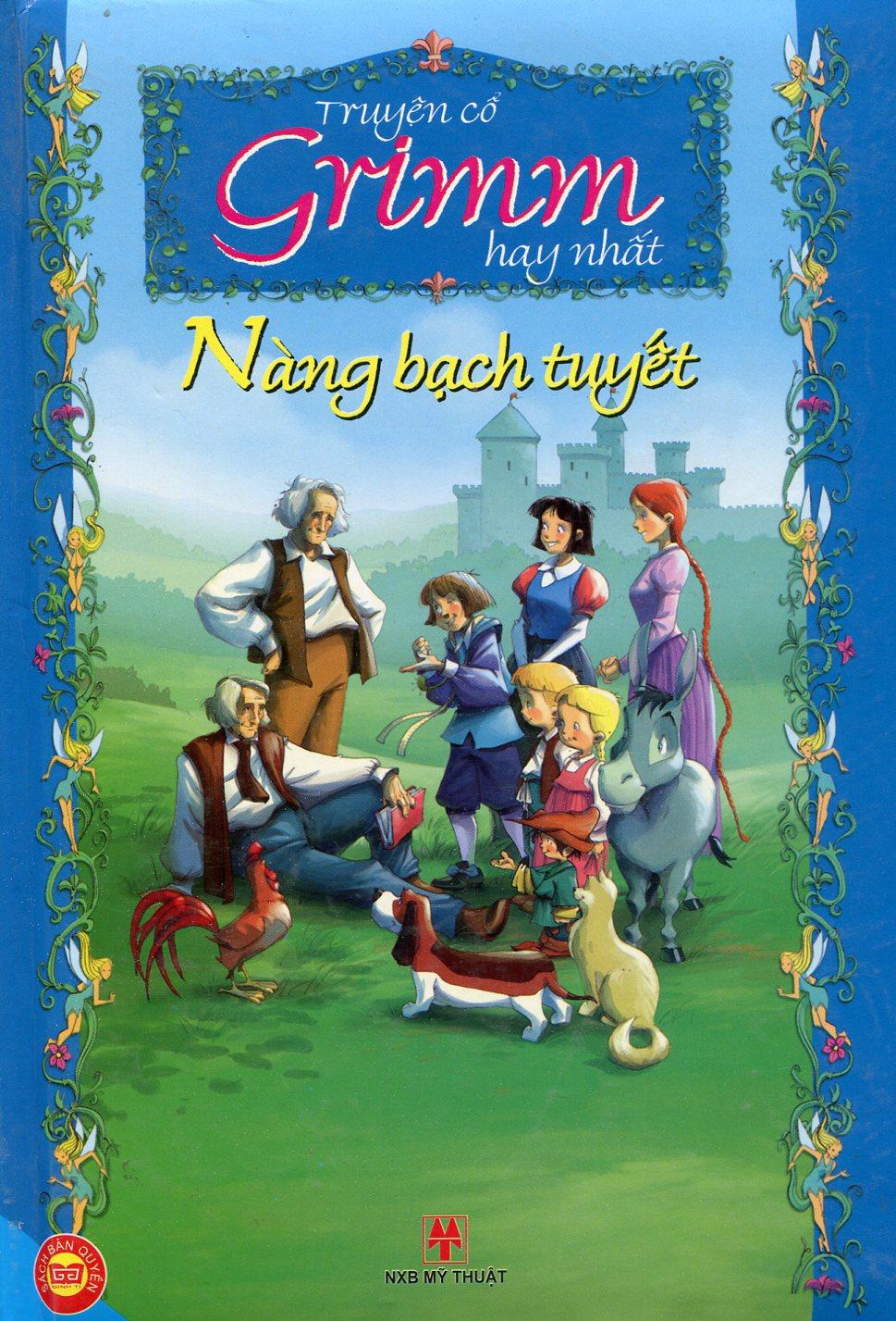 Bìa sách Truyện Cổ Grimm Hay Nhất - Nàng Bạch Tuyết (Bản Màu)