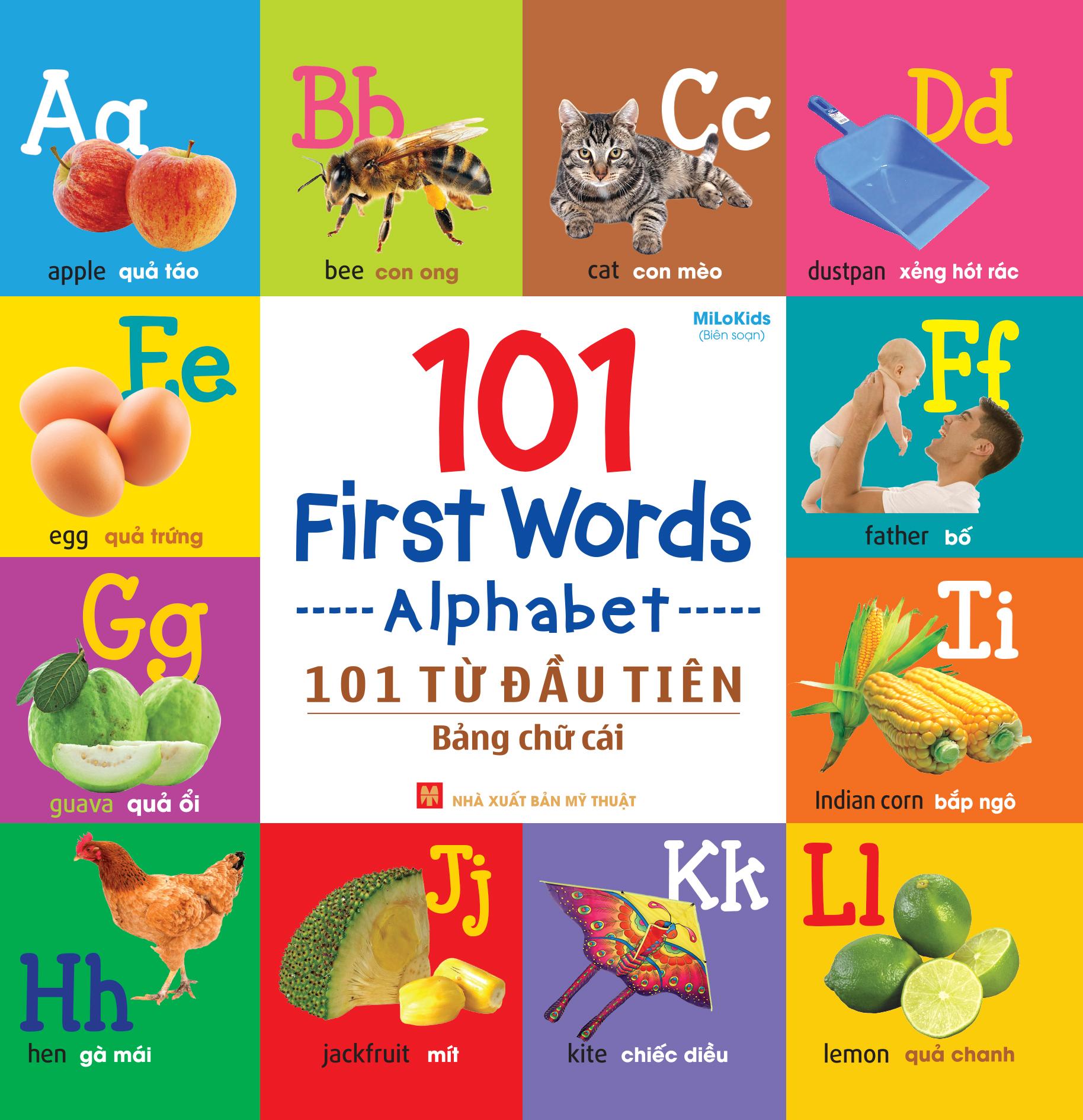 Bìa sách 101 First Words - Alphabet (101 Từ Đầu Tiên - Bảng Chữ Cái)
