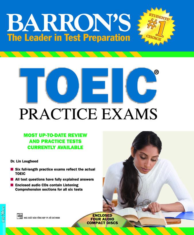 Bìa sách Barons TOEIC Practice Exams (Sách + 4CD)