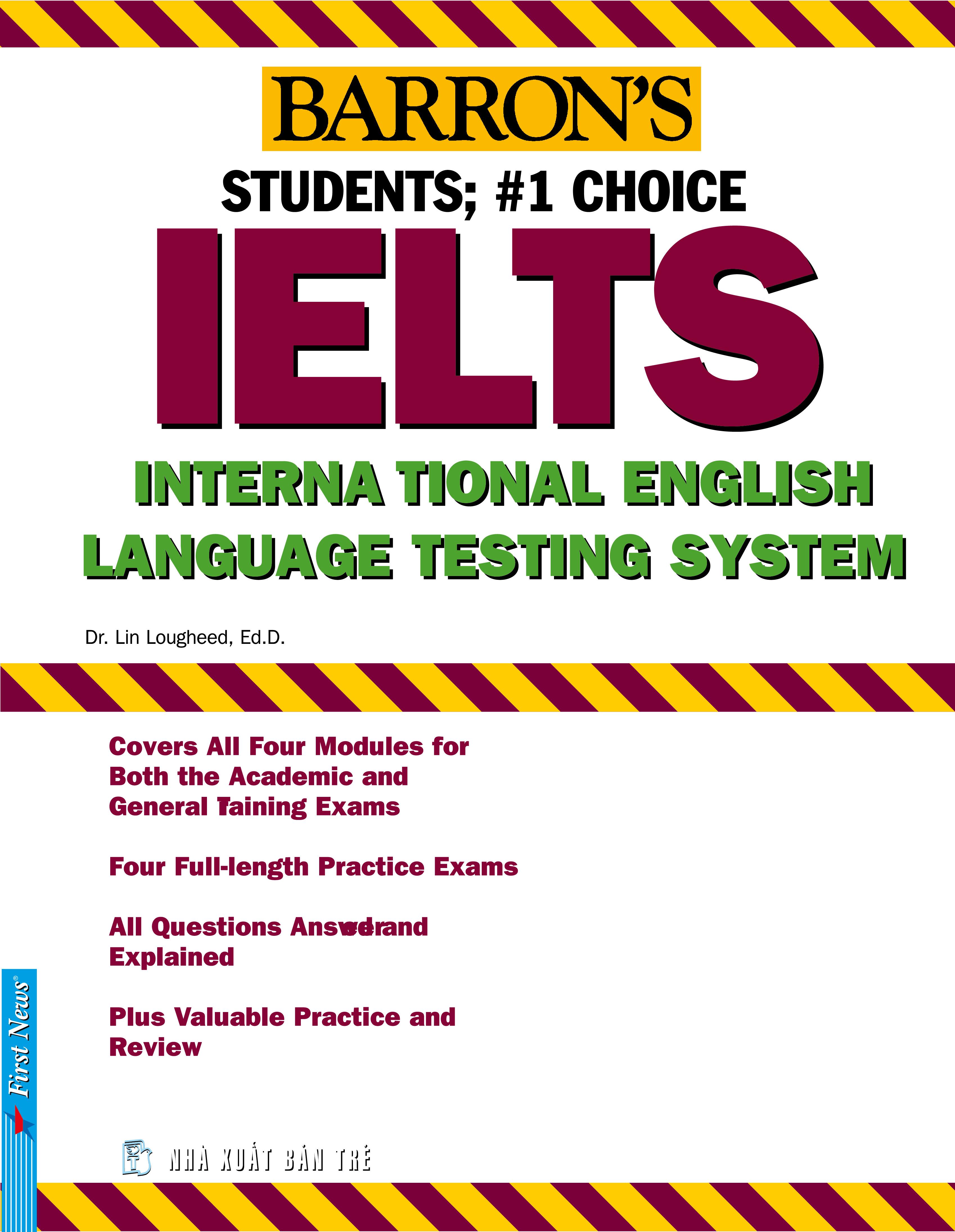 Bìa sách Barrons IELTS International English (Không Kèm CD)
