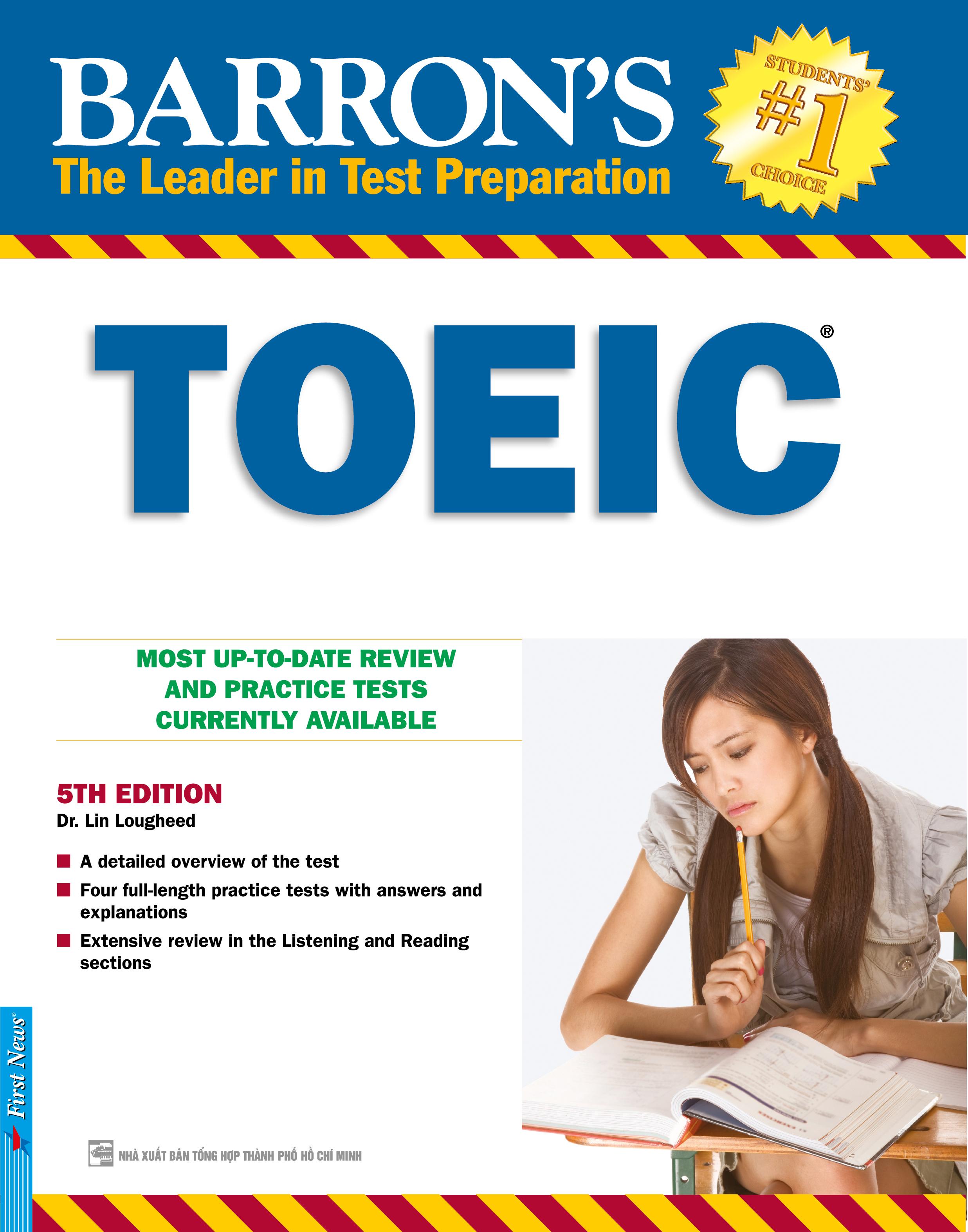 Bìa sách Barrons Toeic Test (5th Edition) (Không CD)
