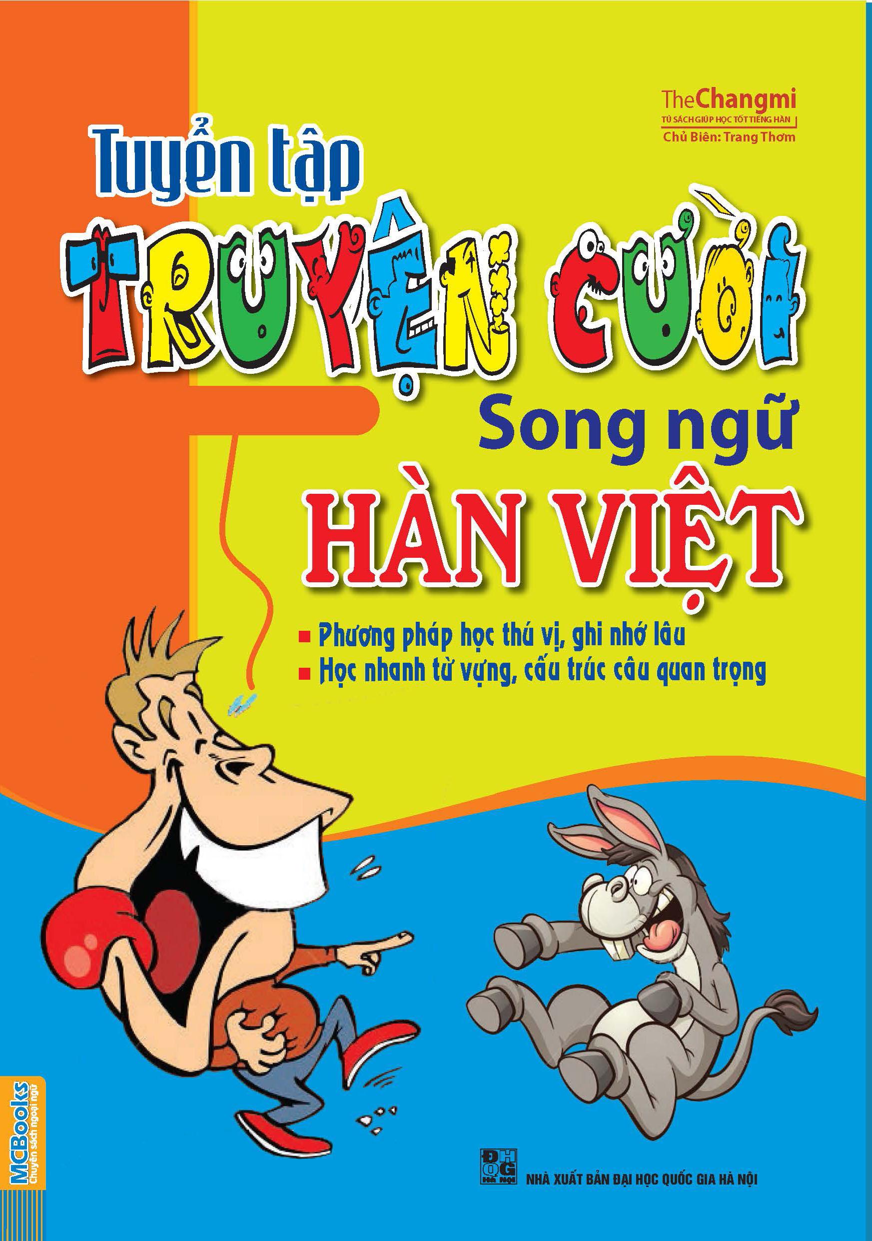 Bìa sách Tuyển Tập Truyện Cười Song Ngữ Hàn Việt