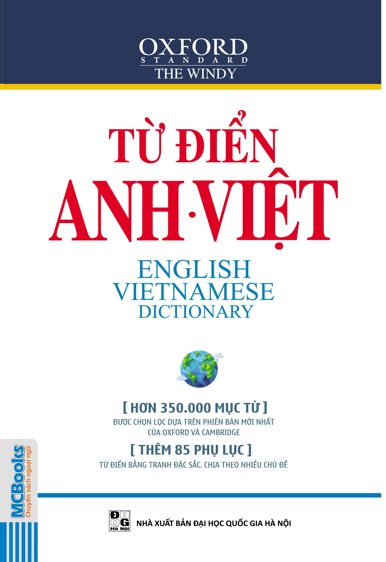 Bìa sách Từ Điển Anh - Việt (Hơn 350.000 Từ)