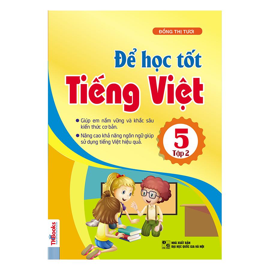 Bìa sách Để Học Tốt Tiếng Việt Lớp 5 (Tập 2)