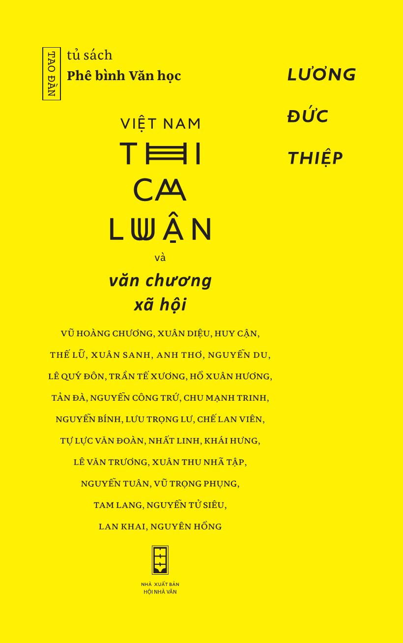 Bìa sách Việt Nam Thi Ca Luận Và Văn Chương Xã Hội