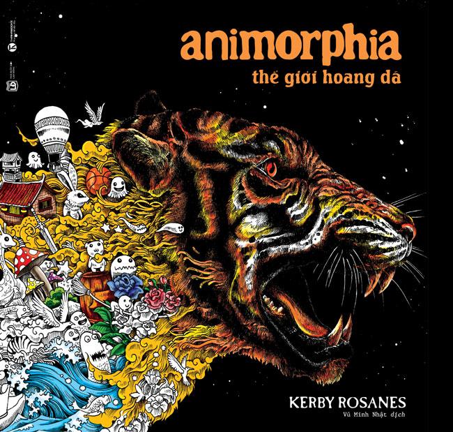 Bìa sách Animorphia - Thế Giới Hoang Dã (Sách Tô Màu Dành Cho Người Lớn)
