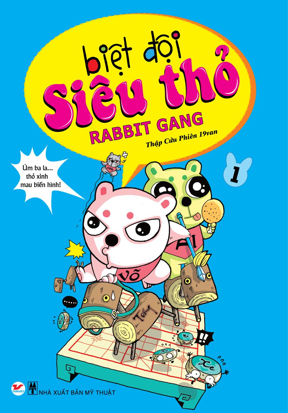 Bìa sách Biệt Đội Siêu Thỏ - Tập 1