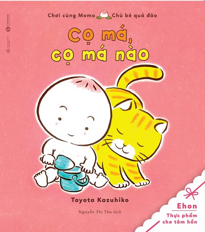 Bìa sách Tủ Sách Ehon: Chơi Cùng Momo - Chú Bé Quả Đào: Cọ Má, Cọ Má Nào