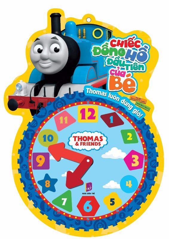 Bìa sách Thomas Và Những Người Bạn - Chiếc Đồng Hồ Đầu Tiên Của Bé