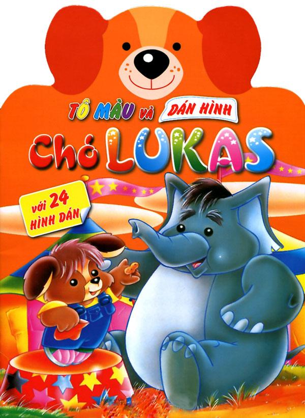 Bìa sách Tô Màu Và Dán Hình: Chó Lukas