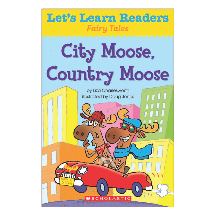 Bìa sách Lets Learn Readers: City Moose, Country Moose