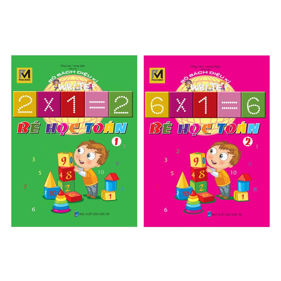 Bìa sách Combo Bộ Sách Diệu Kì - Bé Học Toán (Trọn Bộ 2 Cuốn)