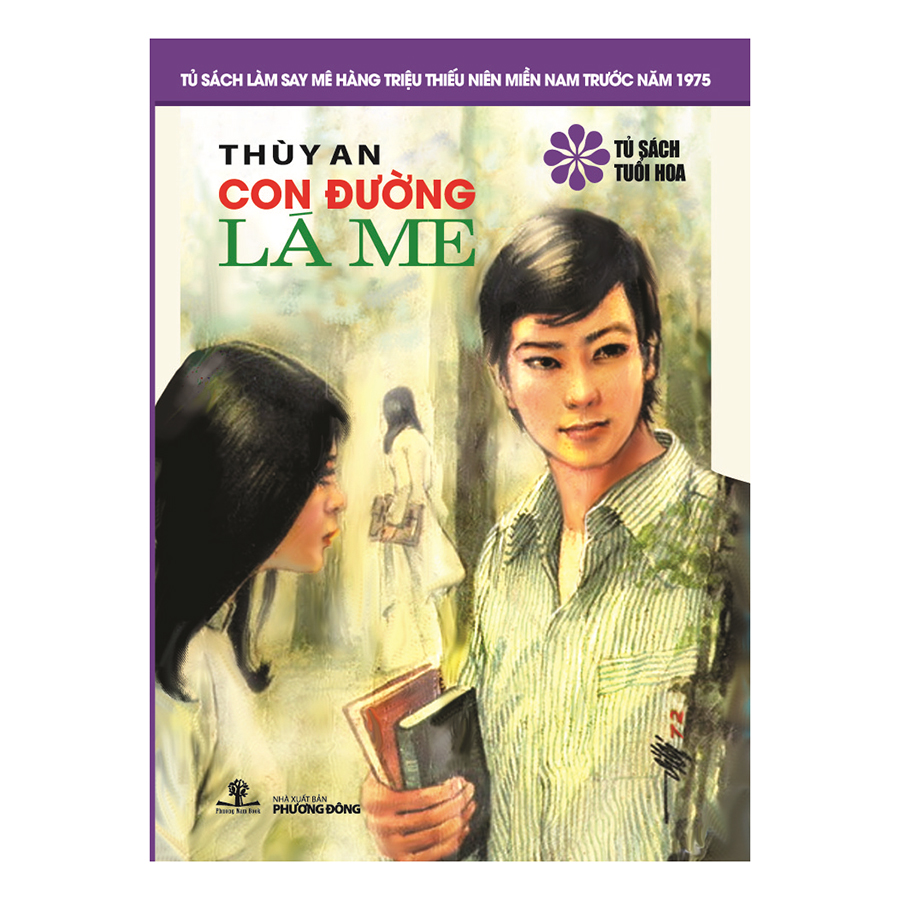 Bìa sách Con Đường Lá Me (Tủ Sách Tuổi Hoa - Hoa Tím)