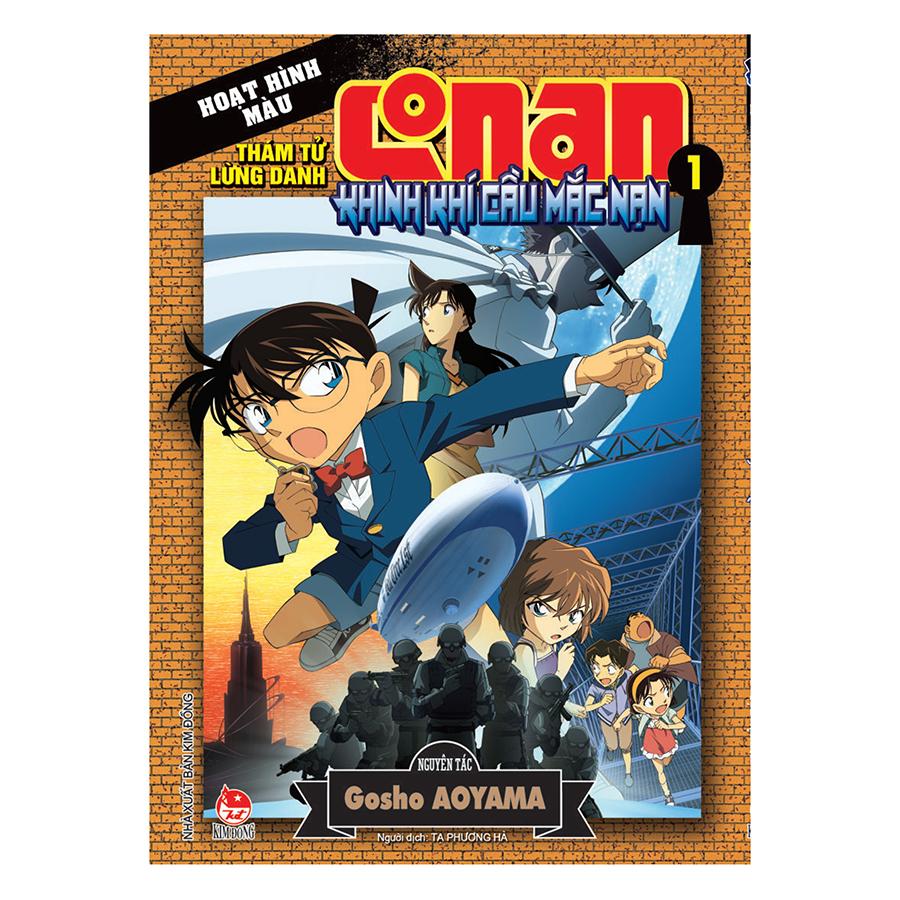 Bìa sách Thám Tử Lừng Danh Conan Hoạt Hình Màu - Khinh Khí Cầu Mắc Nạn (Tập 1)