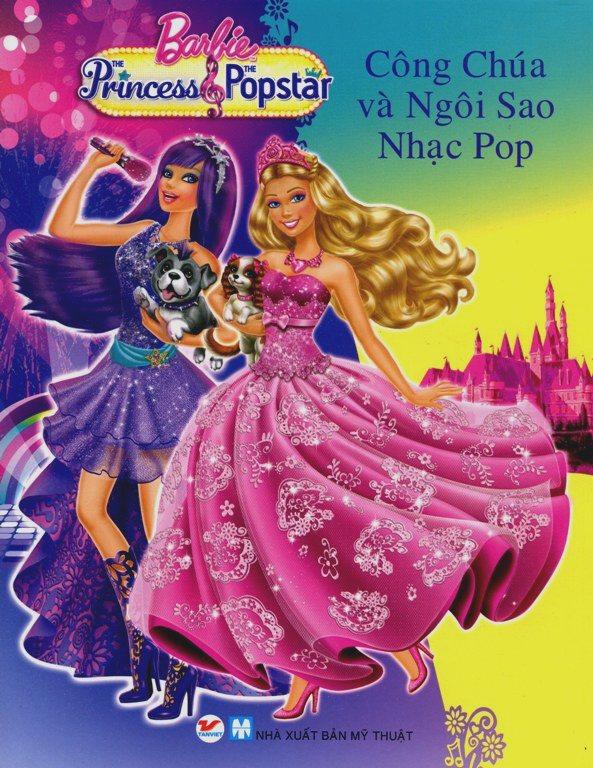 Bìa sách Truyện Tranh Công Chúa Barbie - Công Chúa Và Ngôi Sao Nhạc Pop