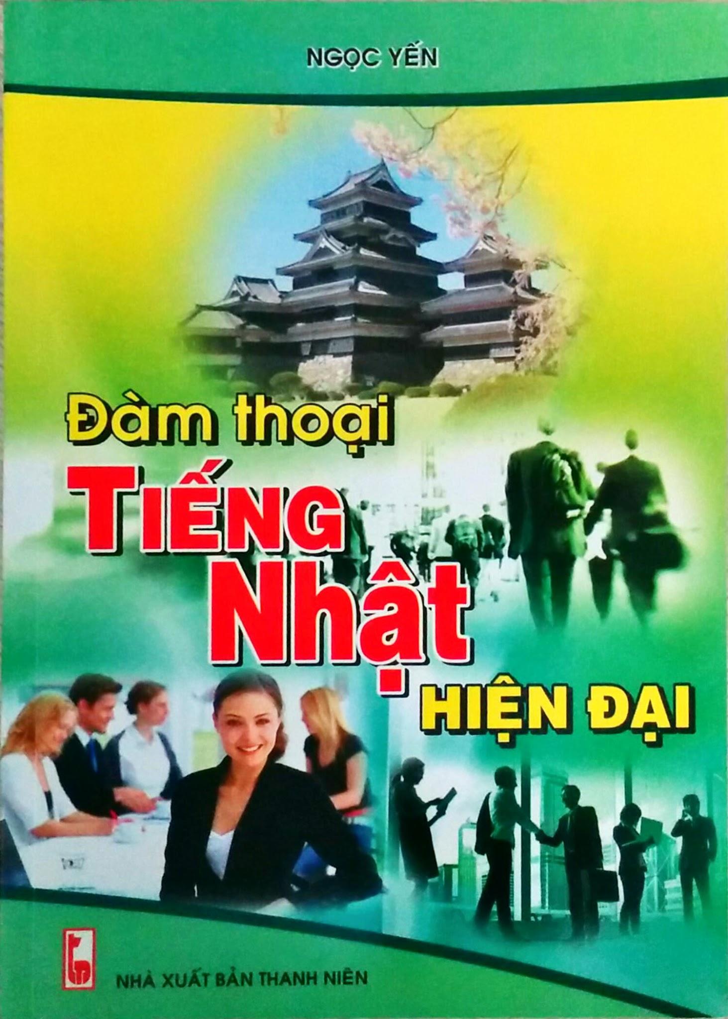 Bìa sách Đàm Thoại Tiếng Nhật Hiện Đại (Kèm CD)