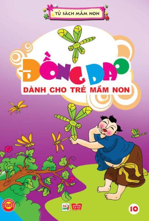 Bìa sách Đồng Dao Dành Cho Trẻ Mầm Non Tập 10