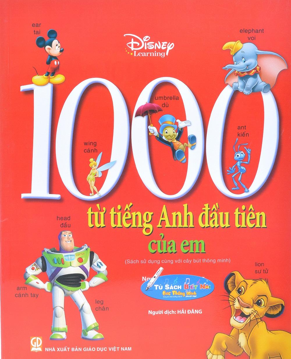 Bìa sách 1000 Từ Tiếng Anh Đầu Tiên Của Em