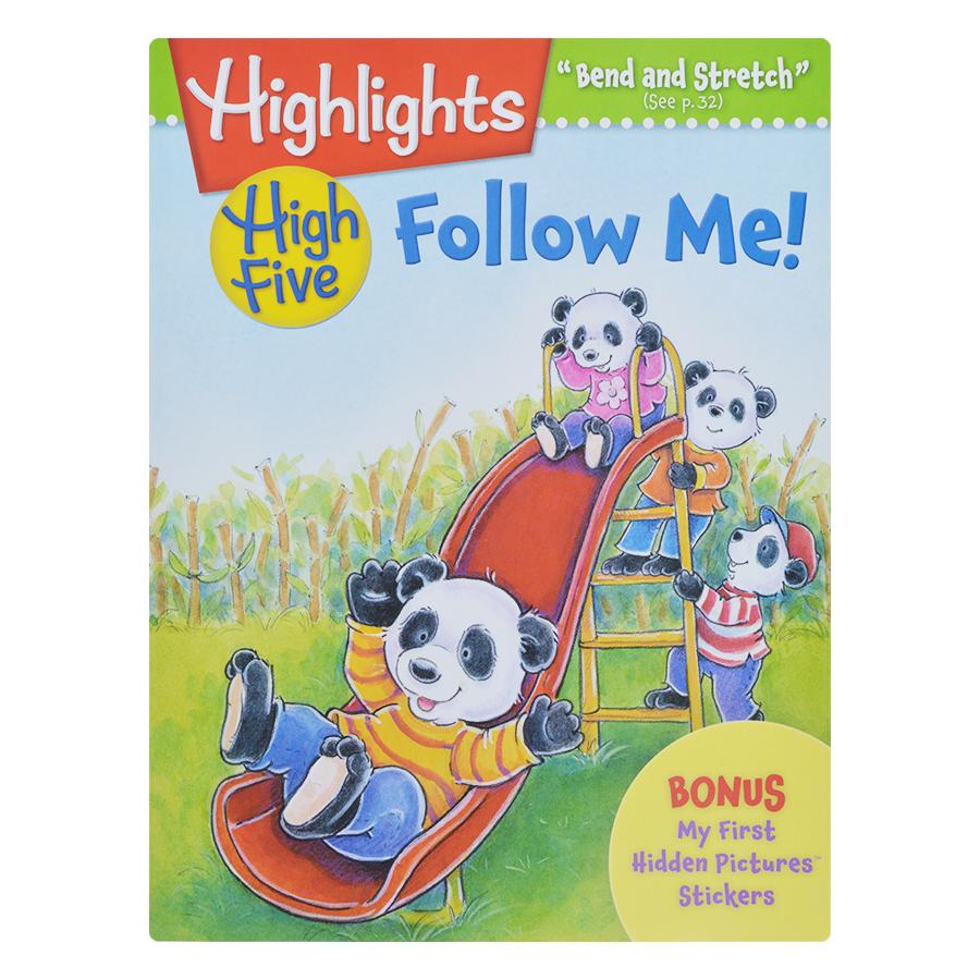 Bìa sách Highlights High Five International Edition - Follow Me (Bonus My First Hidden Pictures Stickers)