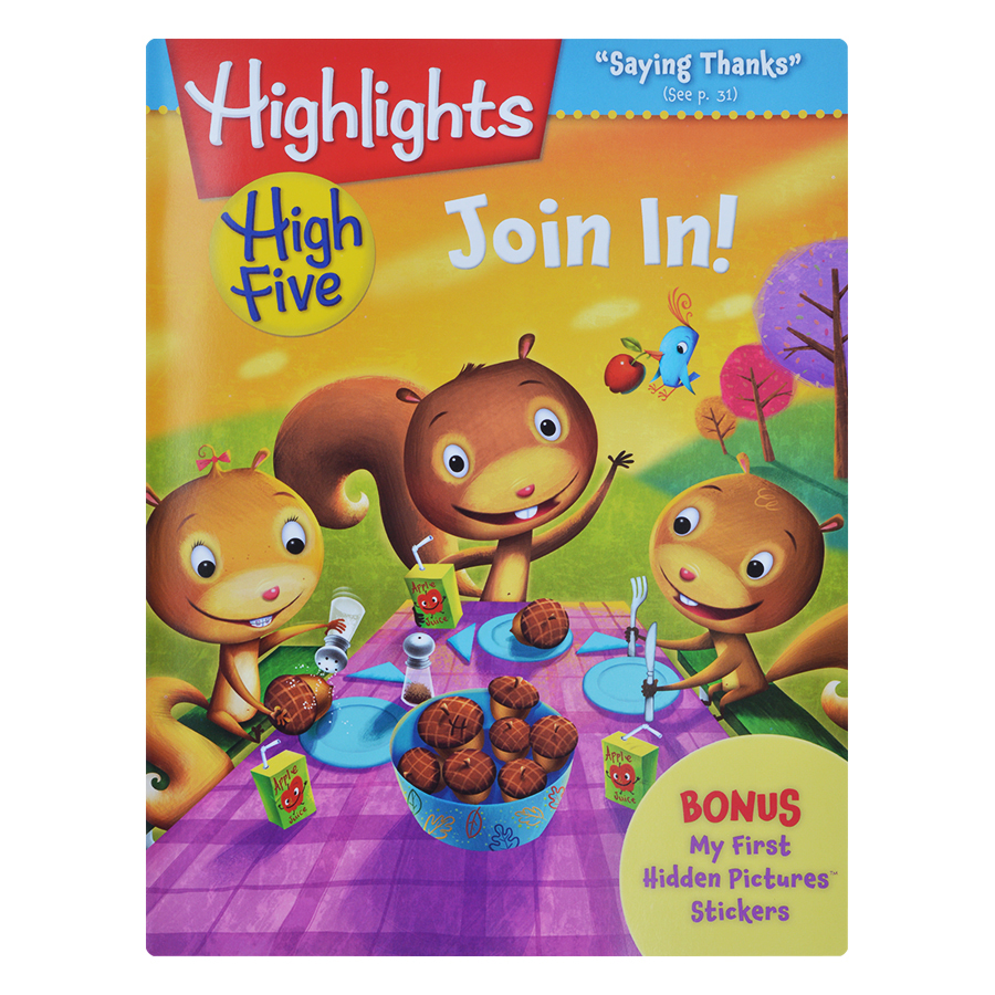 Bìa sách Highlights High Five International Edition - Join In (Bonus My First Hidden Pictures Stickers)