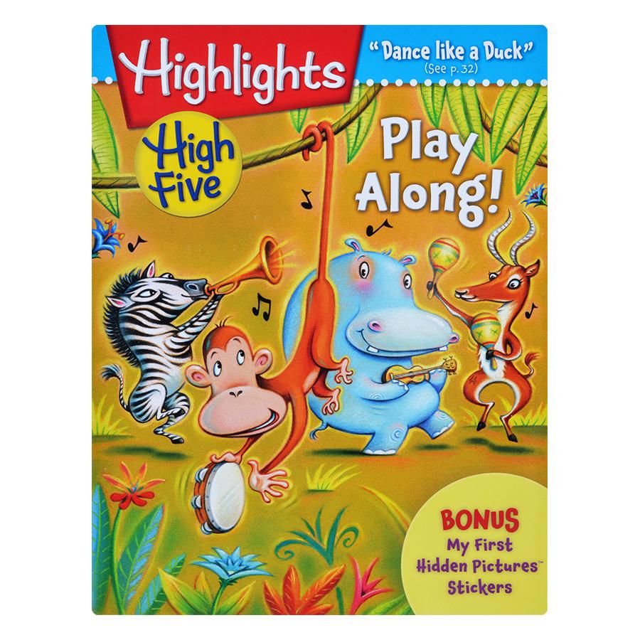 Bìa sách Highlights High Five International Edition - Play Along (Bonus My First Hidden Pictures Stickers)
