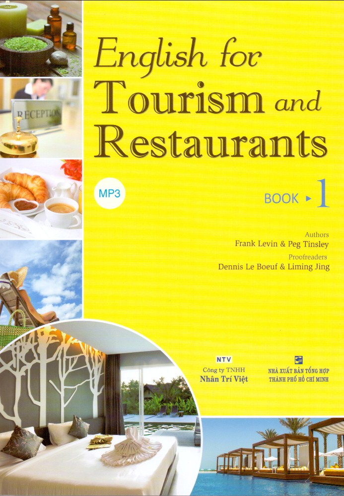 Bìa sách English For Tourism And Restaurants - Book 1 (Kèm Đĩa MP3)