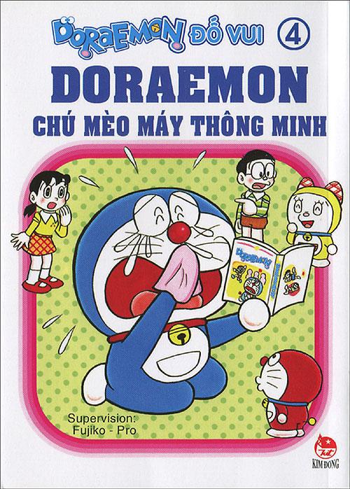 Bìa sách Đôraemon Đố Vui- Đôraemon Chú Mèo Máy Thông Minh - Tập 4