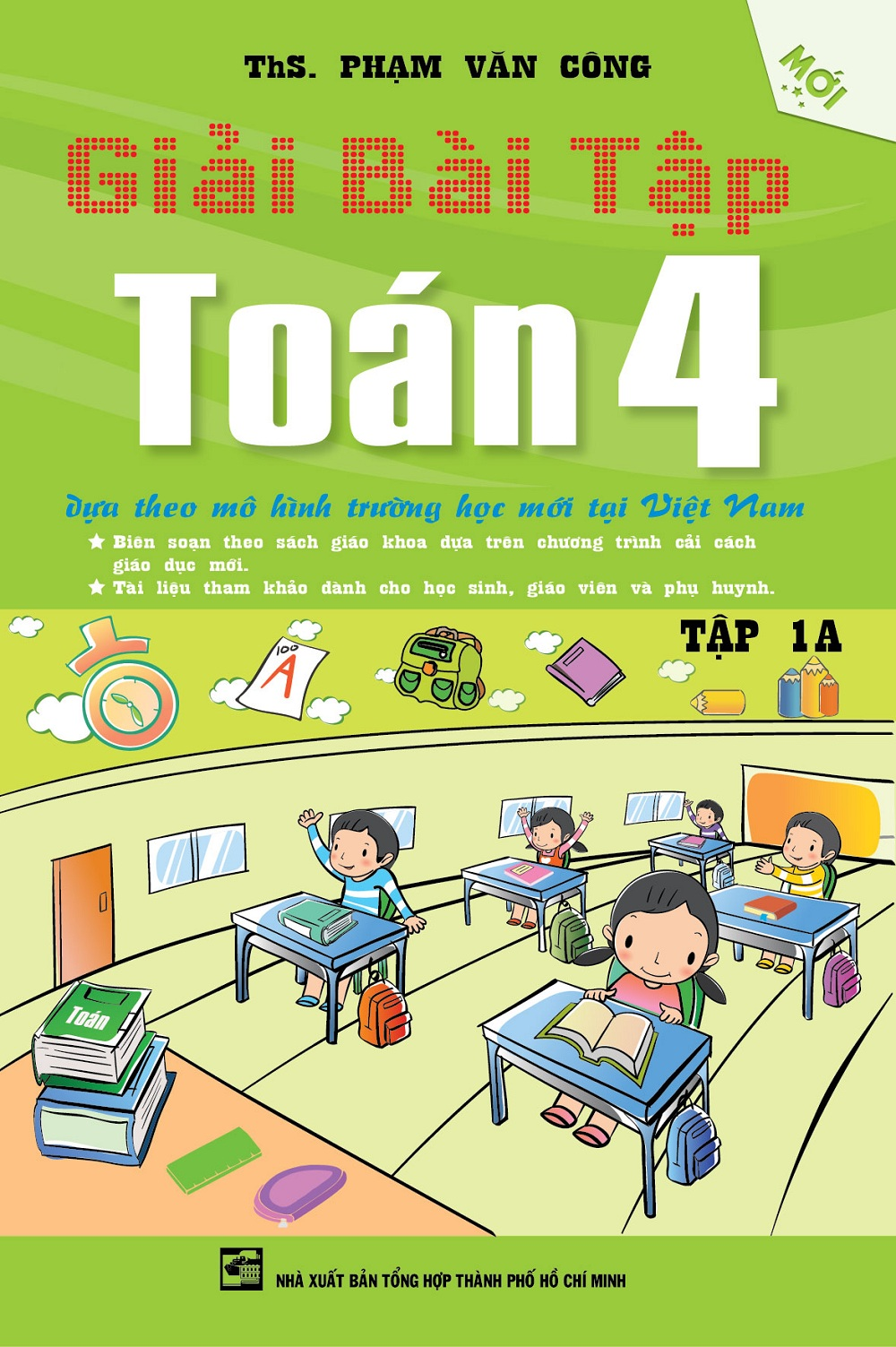 Bìa sách Giải Bài Tập Toán Lớp 4 (Tập 1A)