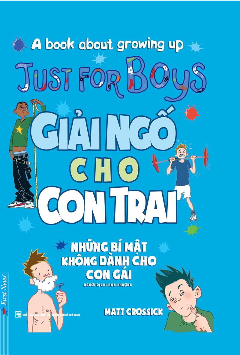 Bìa sách Giải Ngố Cho Con Trai