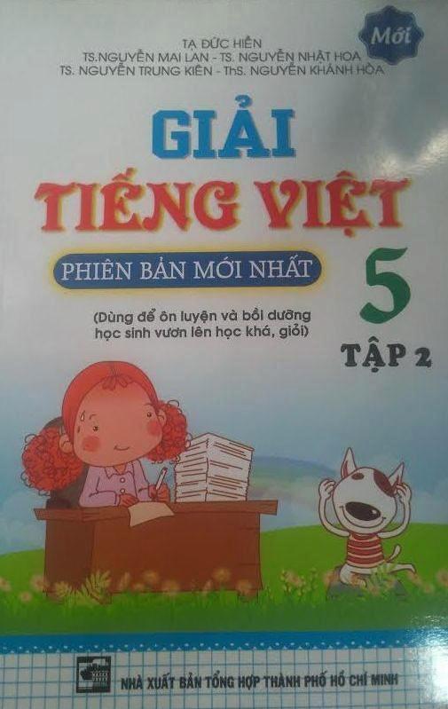 Bìa sách Giải Tiếng Việt Lớp 5 (Tập 2) - Tái Bản 2015