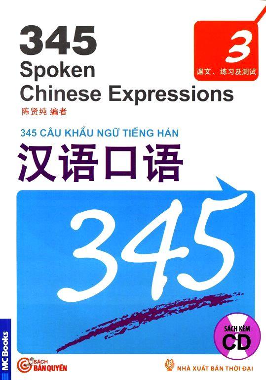 Bìa sách 345 Câu Khẩu Ngữ Tiếng Hán - Tập 3 (Kèm CD)
