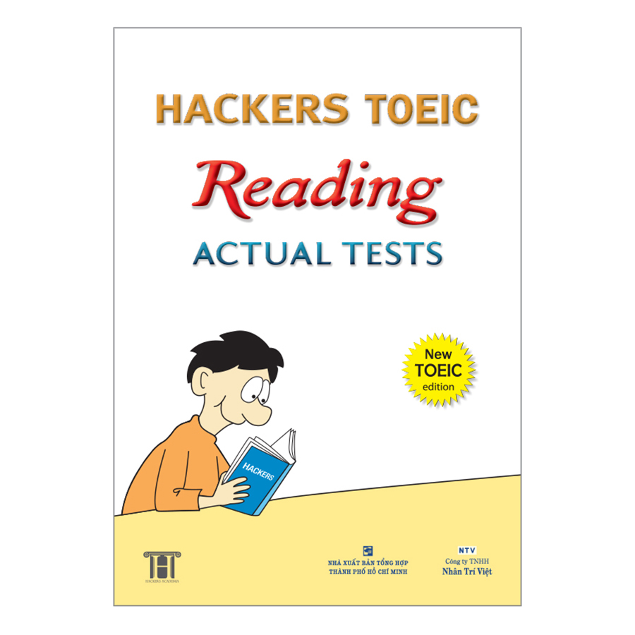 Bìa sách Hackers Toeic Reading Actual Tests