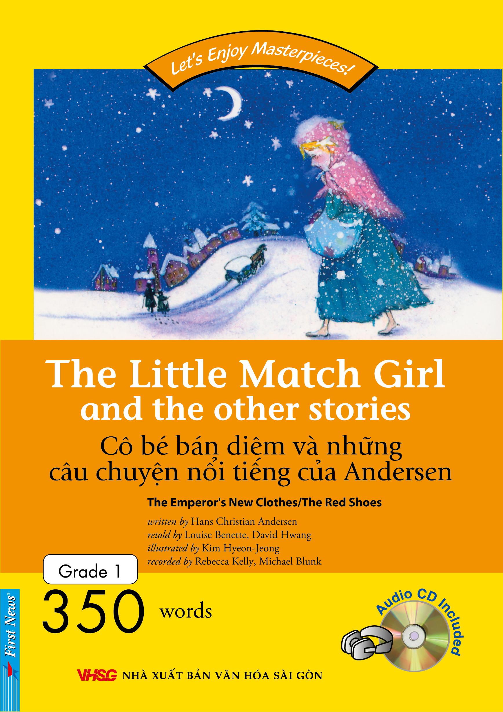 Bìa sách Happy Reader - Cô Bé Bán Diêm (Kèm CD) - Tái Bản